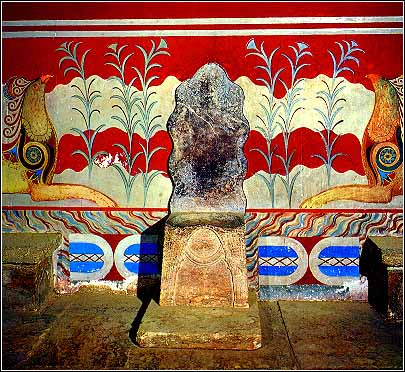 Knossos throne